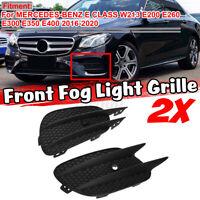 Style AMG avant Inférieur Pare-Choc Grille Brouillard Feu pour Mercedes Classe E