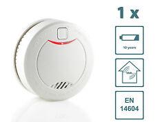 Slabo Rauchmelder Feuermelder Brandmelder + 10 Jahre Batterie - WEISS - 1er Set