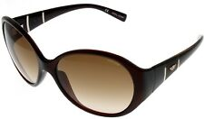 Police Sunglasses Womens S1673 0Z90 Oval Brown