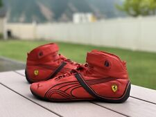 Puma Ferrari Official Red High Top Driving Racing Shoes Men's US 10