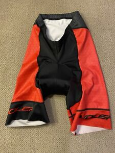 Voler Padded Cycling Shorts Men's XS Red White Black $95