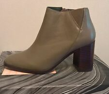 Jeffrey Campbell Women Soulman Taupe Leather Ankle Boots size 8
