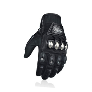 3D Breathable Fabric Motorcycle Motorbike Summer Gloves by Madbike Black M