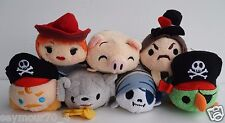 NWT Authentic Disney Pirates of the Caribbean Tsum Tsum COMPLETE SET OF 7