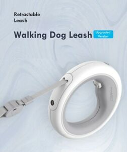 Dog Pet Leash LED Night Ring Retractable Flexible Rechargeable Traction Collar