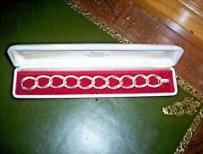 Bracelet Argent Massif 835  écrin Nacre/velours rouge VERY GOOD   🚚 FAST & FREE