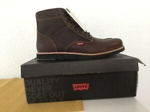 Levi's Jax Plus Herren Boots Stiefel Dark Brown Gr:44 Neu in Karton