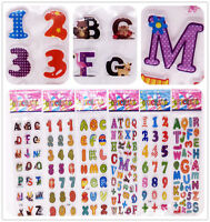 6 sheets Classic Letter A-Z Number 0-9 Stickers Kids School stickers lot Gift US