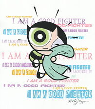Powerpuff Girls Buttercup I Am A Good Fighter Signed 8.5x11 Print W Coa