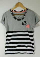 DISNEY MICKEY MOUSE T-Shirt Striped Size 8 - 10