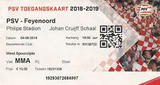 Ticket:PSV-Feyenoord Johan Cruijff Schaal 04-08-2018