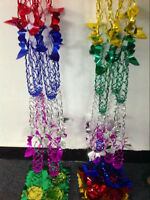 Pack of 4pcs Christmas Foil Garland Ceiling Hanging Tinsel Xmas Home Decoration