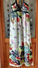 BEAUTIFUL LONG  LINED FLORAL/BUTTERFLIES SUMMER DRESS BY INTUITION SIZE 12