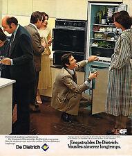 PUBLICITE ADVERTISING 124  1977  DE DIETRICH    LES ENCATRABLES  FRIGO FOUR