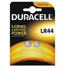 2 x Duracell LR44 batería alcalina batería tipo moneda 1.5V Pilas de botón AG13 V13GA