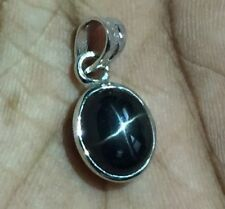 925 Sterling Silver Black Star Diopside Pendant 8 x 10 mm Oval 4.5 Ct. Diopside