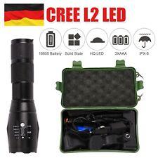 LED Polizei Taschenlampe Swat Cree Wiederaufladbare Zoom Licht +18650 Akku DE