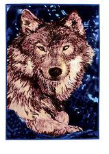 Couvre-lit tapis couverture laineux Loup 155x205cm LIT JETÉ LA VIE COUVERTURE