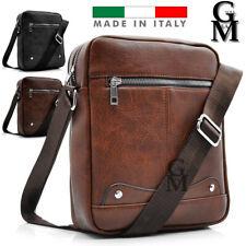 Gyoiamea ITALIA borsello uomo pelle tracolla marrone nero porta casual zip