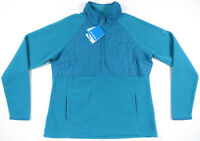 NWT Columbia 1/2 Zip Fleece Turquoise Aqua Womens Sweatshirt Pullover Jacket XL