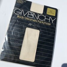 New Vintage Givenchy Pantyhose Cream Size A Sheer Leg Control Top New Old Stock