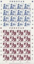 EUROPA CEPT 1983 GROSSE WERKE - FÄRÖER FOROYAR 84-85 KLEINBOGEN **