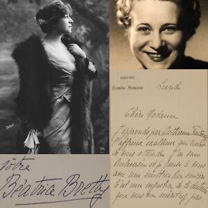 🌓 LAS Béatrice BRETTY à Berthe CERNY Comédie Française 1936 décès de son fils
