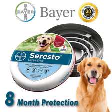 Bayer Seresto Flea and Tick Collar for Large Dog over 18 Ibs 8 Month Protection