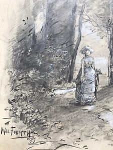 William Forsyth Impressionismus Zeichnung 1888 Hoosier Group America USA drawing