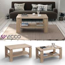 VICCO Couchtisch Paola Sonoma Eiche Wohnzimmertisch Beistelltisch Holztisch