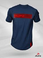 PIMD Deity Blue/ Red Tee - Fitness Urban Gym LONG SIZE T Shirt Street Mens