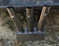 """Upgrade Hitch Mount Flag Pole Holder Trailer 2"""" Receiver RV Camper 3 flag mount"""