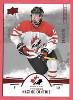 2016-17 Maxime Comtois Upper Deck Team Canada Juniors 054/175 Red - Ducks