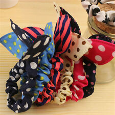 5PCS Girls Cute Scrunchie Women Braid Holder Ribbon Elastic  Bow Knot Hairband