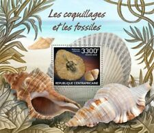 Central Africa - 2019 Shells & Fossils - Stamp Souvenir Sheet - CA190402b