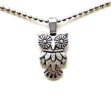 Owl Pendant with Adjustable Chain Necklace