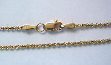 14K GOLD ROPE CHAIN, 18 INCHES, 1.6MM WIDE, 4.19 GRAMS