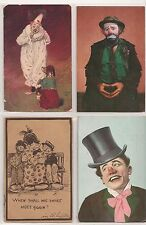 CLOWNS (4) different postcards
