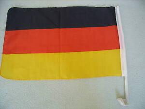 Autofahne  WM / EM  Deutschland  Klemmfahne Derby Hochzeit Geburtstag
