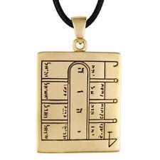 Bronze 1st Pentacle of the Moon Key of Solomon Ceremonial Magic Pendant Necklace