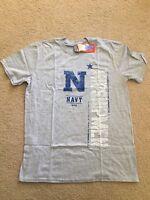 NWT Men's Ouray Sports NCAA Navy Midshipmen Short Sleeve T-Shirt, Gray, size L