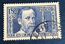 France N°333 1/50 Fa pasteur Bleu Obli TB Qualité Centrage Côté 22€