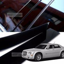 Glossy Black B C Pillar Post UV Coating Cover 6Pcs For CHRYSLER 2005-2010 300C