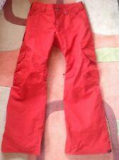 Burton dryride Orange Ski or Snowboard insulated pants. Small men's