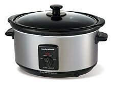 Morphy Richards Accents 3.5 Litre Brushed Stainless Steel Slow Cooker 48709A