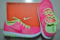 Nike Flex Fury Girls Running Shoes 725071 600 Pink/Yellow/White NIB