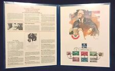 The Franklin D. Roosevelt Collector's Panel - 9 First Day of Issue Stamps - FDR
