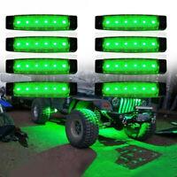 8X LED Rock Light For JEEP Offroad ATV Truck Bed Under Body Fog Lights Green