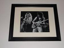 "Eddie Van Halen / David Lee Roth 1979 Van Halen Tour with Guitar Framed 14""x17"""