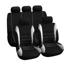 Coprisedili Universali Per Auto Set Tessuto Sportivo Lavabile Compatibile Grigio